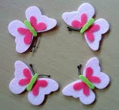 farfalle Foam Crafts, Craft Stick Crafts, Preschool Crafts, Crafts To Make, Crafts For Kids, Paper Crafts, Felt Flowers, Fabric Flowers, Paper Flowers