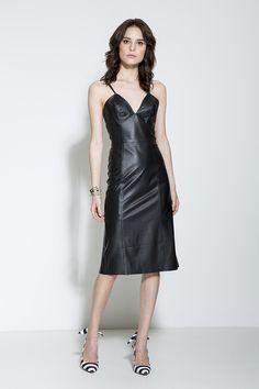 Vestido de couro | Coleção Café Society