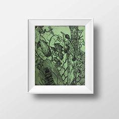 Fine art etchings Botanical print Etching print Original