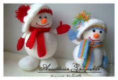 These jolly Snowmen are the perfect cuddly make for the coming festive season. Make him as a gift or for yourself with Knitting Snowman Free Pattern.