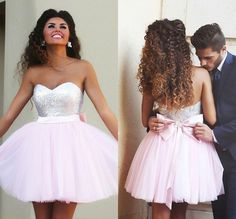 New Arrival Pink Homecoming Dress,Tulle Prom Dress,Mini Prom Dress,Short Prom Dress,Beading Prom Dress,Bow Graduation Dress