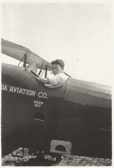 Vintage Photo - Pilot - Aviation - Open Cockpit Airplane - Snapshot - Found Original Photo by SunshineVintagePhoto on Etsy https://www.etsy.com/listing/454247498/vintage-photo-pilot-aviation-open