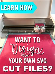 Learn How to deign your own SVG cut files for Cricut or Silhouette cutting machines. Silhouette Cameo 4, Silhouette Cameo Projects, Silhouette Machine, Silhouette Cutter, Silhouette Cameo Software, Silhouette School, Silhouette Files, Cricut Help, Cricut Air