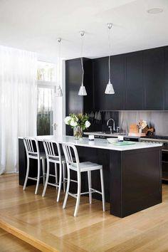 Seven Stunning Non White Kitchens Contemporary Stylesmart Kitchenkitchen Designkitchen Idetainless Steelmodern Designdiningbathroominterior