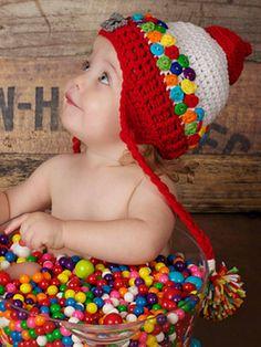 Jonathan's Gumball Hat #crochet