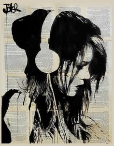"Saatchi Art Artist Loui Jover; Drawing, ""melodies solace ...SOLD"" #art"
