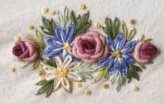 Latest Brazilian Embroidery Designs, Embroidery Stitches K To 12 in Embroidery Designs Jeans Bullion Embroidery, Brazilian Embroidery Stitches, Types Of Embroidery, Rose Embroidery, Silk Ribbon Embroidery, Embroidery Kits, Embroidery Tattoo, Embroidery Supplies, Embroidery Designs