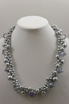 103 Gray Blue Iridescent 24' Necklace Set $35.00 Pin it Coupon Code (DDB6230) 10% discount. #CustomJewelry #Jewelry #Necklaces #CustomJewelryMatching