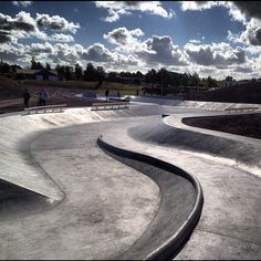 Rabalder Park in Roskilde, Denmark. Designed as a dual use Skatepark/drainage facility.