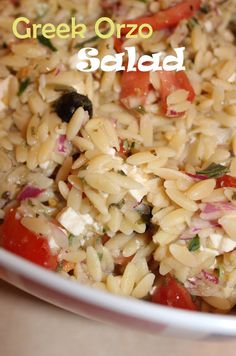 Harris Sisters GirlTalk: Greek Orzo Salad Super good! I used greek olives instead of black :)