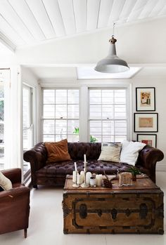 White and leather. danielle oakey interiors