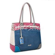 Sac à Main Femme-Bleu sac en cuir couleur hit