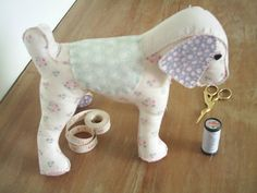 Free standing tilda fabric dog pincushion,sewing aid,tilda dog plushie,dog ornament,home decor,childs toy,stuffed animal,HANDMADE BY FRALINE by fraline on Etsy