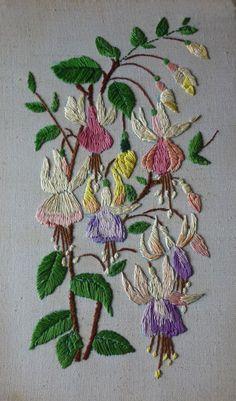 embroidered fuchsia