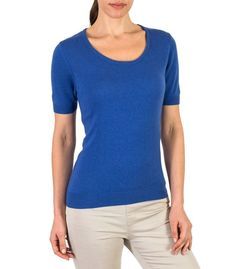 royal blue short sleeved womens sweater (ref - a24) Royal Blue