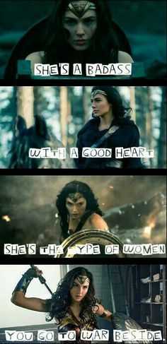 Wonder woman...And it's WOMAN ..not women. Women is plural for WOMAN. WHY are there too many imbeciles?