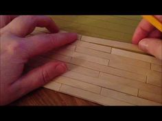 ▶ ~DIY: Make a dollhouse floor with popsicle sticks~ - YouTube