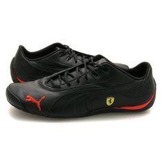 833586ad6 Mens Puma Drift Cat III Ferrari Black Trainers #puma #trainers Puma  Sneakers, Canvas