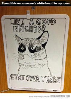 Like a good neighbor…