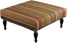 Surya Furniture Burnt Orange Ottoman