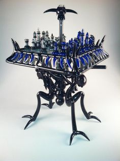 Artistic Chess Sets | chess set bong art | 2K Diffuser Beads