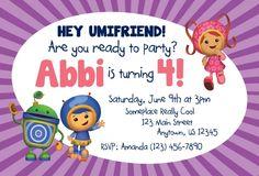 UmiZoomi birthday party invitations