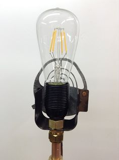 the gun sight lamp holder is an E27 screw thread and the choice of bulb I have used for now is this LED filament bulb. all of my lights can be purchased through www.pbrobots.com if you don't see anything there then contact me at paulbrady61@hotmail.com I may have something that's not on the web site SOLD Steampunk Fashion, Light Bulb, Guns, Led, Lights, Canning, Weapons Guns, Light Globes, Revolvers