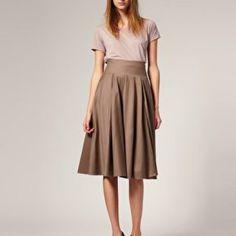 Jupe sous le genou ASOS Wool Mix Mid Calf Full Skirt