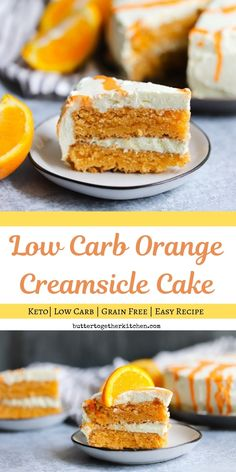 Low Carb Orange Creamsicle Cake – This cake flavorful and refreshing while on a Keto Diet! Low Carb Orange Creamsicle Cake – This cake flavorful and refreshing while on a Keto Diet! Low Carb Sweets, Low Carb Desserts, Easy Desserts, Low Carb Recipes, Dessert Recipes, Dinner Recipes, Atkins Desserts, Soup Recipes, Breakfast Recipes