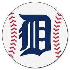 Detroit Tigers Baseball Mat 27 diameter