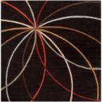 Hughson Chocolate (Brown) 6 ft. x 6 ft. Square Area Rug