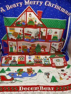 Berry Merry Christmas Advent Calendar Cranston Finished Bear Hanging #Cranston