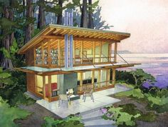 727 Square Feet Modern Small House in the Perfect Setting: The Tamarack | Tiny House Pins