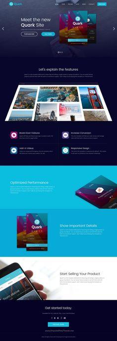 Quark is beautifully design responsive #HTML template for #webdesign single product #landingpage website download now➩ https://themeforest.net/item/quark-single-product-site-template/18686005?ref=Datasata