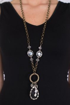 Our Crystal Chandelier Necklace is part of one of our favorite jewelry lines. Each piece is handmade especially for you.