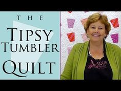 The Tipsy Tumbler Quilt: Easy Quilting Tutorial with Jenny Doan of Missouri Star Quilt Co - http://www.fbdeveloper.de/the-tipsy-tumbler-quilt-easy-quilting-tutorial-with-jenny-doan-of-missouri-star-quilt-co/