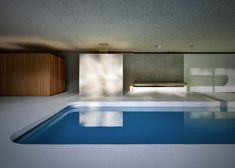 'La Piscina del Roccolo' is gorgeous luxurious indoor swimming pool designed by Italian architecture studio Act_romegialli. Set in a historic home in Italy, the Hidden Swimming Pools, Underground Swimming Pool, Swimming Pool Designs, Contemporary Architecture, Interior Architecture, Interior Design, Contemporary Interior, Interior Rendering, Hotel Alpen