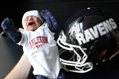 Carleton Raven Football doesn't kick off until but newborn Brady Gilmour, third cousin of head coach Steve Sumarah, volunteered to be the first Football Fans, Football Helmets, Carleton University, School Sports, Photo Quotes, Ravens, Athletics, Third, Pride