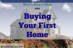 What are those things you need to consider when you buy your first home?We've got here great tips for you!