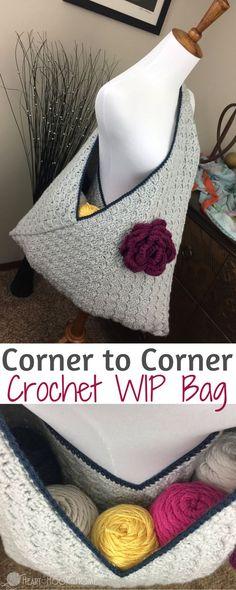 Crochet WIP Bag (Work In Progress) Using Corner to Corner http://hearthookhome.com/crochet-wip-bag-work-in-progress-using-corner-to-corner/?utm_campaign=coschedule&utm_source=pinterest&utm_medium=Ashlea%20K%20-%20Heart%2C%20Hook%2C%20Home&utm_content=Crochet%20WIP%20Bag%20%28Work%20In%20Progress%29%20Using%20Corner%20to%20Corner