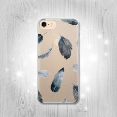 Feather Paint Pattern Transparent Clear Case For by Lantadesign