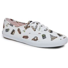 Keds White Champion Boardwalk Low Top Sneakers ($30) ❤ liked on Polyvore featuring shoes, sneakers, white, white sneakers, white low tops, low profile shoes, round toe sneakers and keds footwear