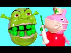 Nurse Peppa Pig Fixes Shrek Rotten Root Canal Play Doh Doctor Drill 'N Fill Play Dough Dentist Set - http://www.disneytoysreviews.com/play-doh-for-boys/nurse-peppa-pig-fixes-shrek-rotten-root-canal-play-doh-doctor-drill-n-fill-play-dough-dentist-set/