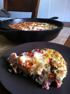 taylor made: clean, low-carb ham & veggie frittata