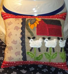 Sunflower Fields Pattern Company: Springtime Meadows 1 applique sheep pattern for sale
