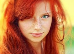 love the red hair & blue eyes so beautiful :)