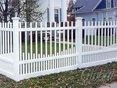 White picket fence. I like the extra pickets at the bottom.