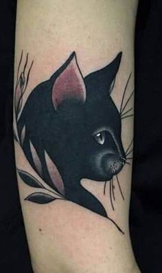 13 tatouages ​​de chat noir mignons et parfaits - Tatouage de chat noir Plus - Future Tattoos, Love Tattoos, Tattoo You, Beautiful Tattoos, Body Art Tattoos, Bird Tattoos, Pet Tattoos, Black Cat Tattoos, Animal Tattoos