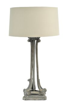 Roxborough Mindy Tri-Leg Wood Lamp with Cream Shade - Product Ref. 337646