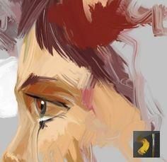 [Krita Brushes] Set de Pinceis do David Revoy para o Krita Krita Brushkit V2.1 - David Revoy [exemplo de preset com smudge para pincel tipo bristle]